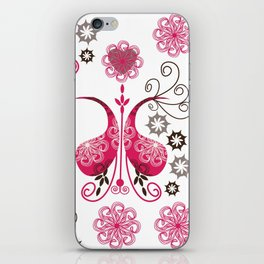 Odd pink Paisley background iPhone Skin