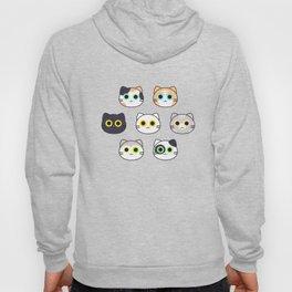Kitty Pattern- Natural Hoody