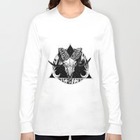 goat Long Sleeve T-shirts featuring Goat by alesaenzart