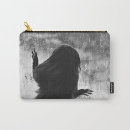Golden Lion Tamarin in Black and White Carry-All Pouch