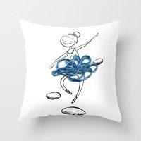 ballerina Throw Pillows featuring ballerina by woollover