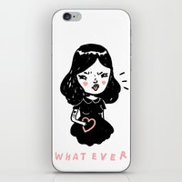 whatever iPhone & iPod Skins featuring Whatever by Mel Stringer