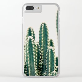 Desert Cactus Clear iPhone Case