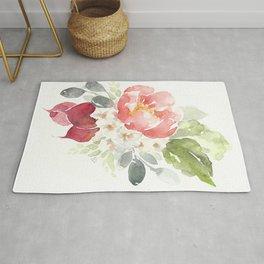 Watercolor Radish Bouquet Rug