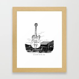 Big Golden Guitar, NSW Framed Art Print