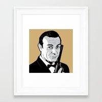 james bond Framed Art Prints featuring James Bond by artpuerto
