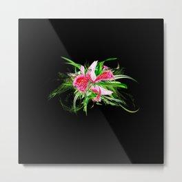Pastells black by Mia Niemi Metal Print