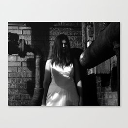 Lady in White (1 of 7) Canvas Print