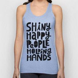 shiny happy people x typography Unisex Tank Top