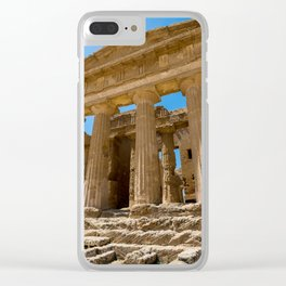Greece ruined  temple Clear iPhone Case