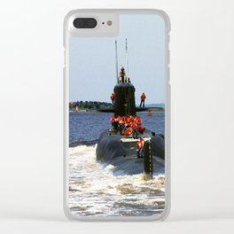USS MARIANO G. VALLEJO (SSBN-658) Clear iPhone Case