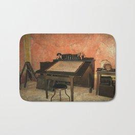 Antique Nautical Desk  Bath Mat