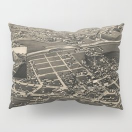 Vintage Pictorial Map of Las Vegas NM (1882) Pillow Sham