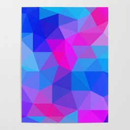 Magenta Blacklight Low Poly Poster
