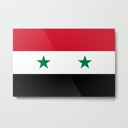 Flag of Syria, High Quality image Metal Print