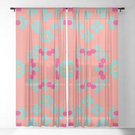 """""""Aurora"""" series #7 Sheer Curtain"""