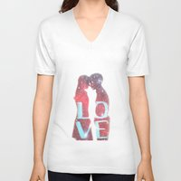 lovers V-neck T-shirts featuring Lovers by EclipseLio