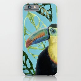 Tropical vibes watercolor illustration  iPhone Case
