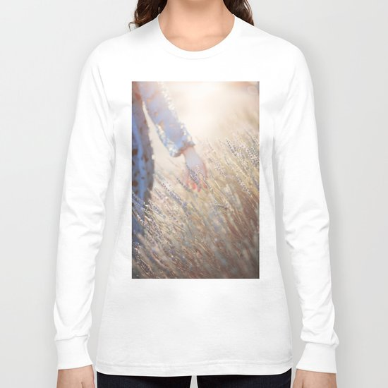 Hands and sunset Long Sleeve T-shirt