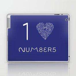 I heart Numbers Laptop & iPad Skin