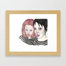 Girl, Interrupted Framed Art Print