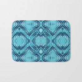 Folk Shibori Blues Bath Mat