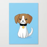 beagle Canvas Prints featuring Beagle by Freeminds