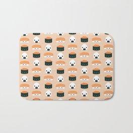 Salmon Dreams in peach, large Bath Mat