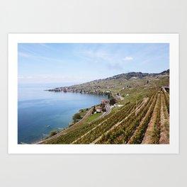 Geneva Alps Art Print