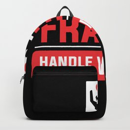 Fragile handle with care Broken Heart Love Backpack