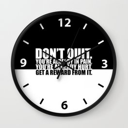 Don't quit... Gym Motivational Quote Wall Clock