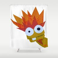 muppet Shower Curtains featuring Hothead by Myles Hunt