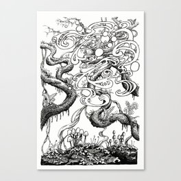Epiphycadia II: Lichen Canvas Print