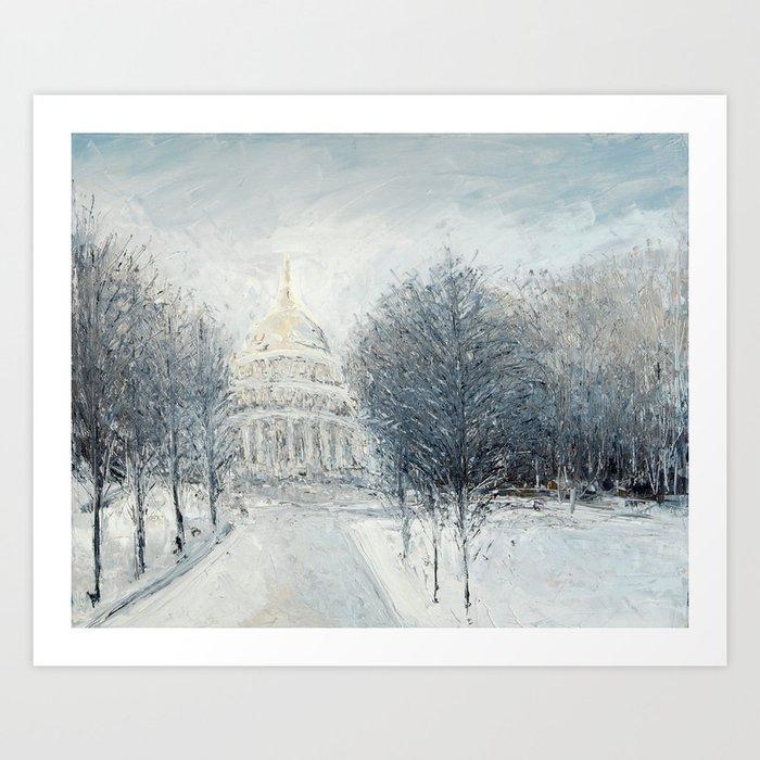 Capitol Christmas Art Print