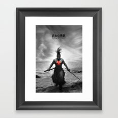 Courage of Samurai Framed Art Print