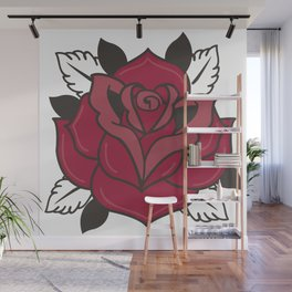 The Old School Rose Wall Mural