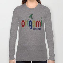 Origami: Deliberative Creasing Long Sleeve T-shirt