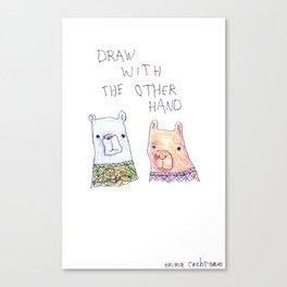 Backhand Bears Canvas Print