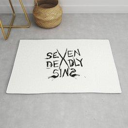 Seven Deadly Sins Typo Rug