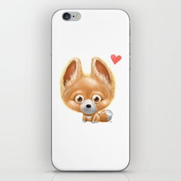 Super cute baby fox kawaii perfect for all animal lovers! iPhone Skin
