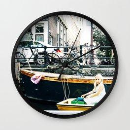 Little girl in Amsterdam Wall Clock