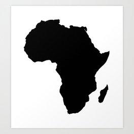 Silhouette Africa Art Print