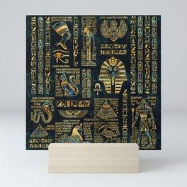 Ancient Egyptian Hieroglyph Sphinx Pyramid Mini Art Print