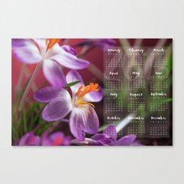 Calendar 2016 Canvas Print