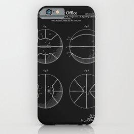 Basketball Patent - Black iPhone Case