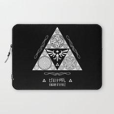 Legend of Zelda Kingdom of Hyrule Crest Letterpress Vector Art Laptop Sleeve