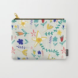 Floral The Tortoise and the Hare is one of Aesop Fables beige Carry-All Pouch