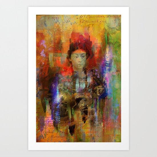 Woman samurai Art Print
