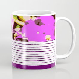 Lilac flowers and stripes, pattern mix Coffee Mug