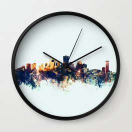 New Orleans Louisiana Skyline Wall Clock